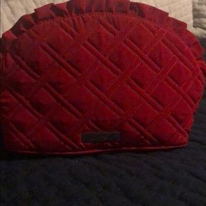 Red Vera Bradley Cosmetic case with ruffle